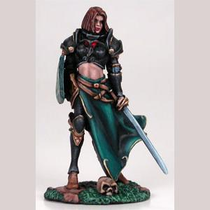 Female Cavalier with Sword & Shield