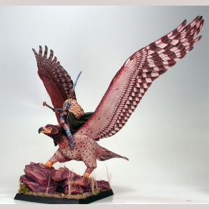 War Eagle with Female Elven Rider
