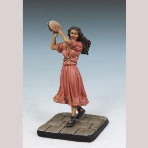 Female Minstrel with Tambourine