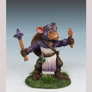 Hamster Cleric with Mace