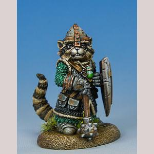 Raccoon Cleric with Mace/Shield