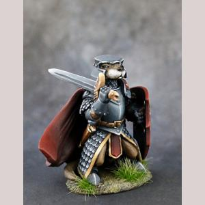 Otter Knight with Sword and Shield