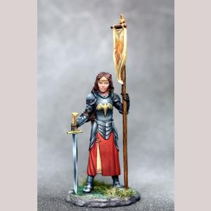 Female Paladin with Sword and Banner