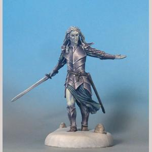 Male Elven Warrior with Long Sword