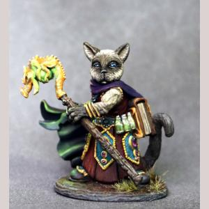Siamese Cat Wizard with Staff