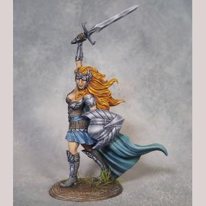 Female Warrior with Sword and Shield