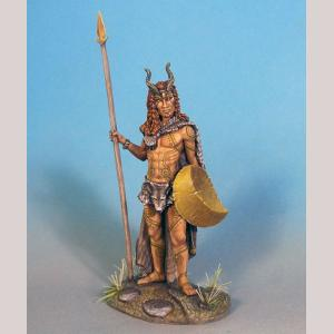 Male Feral Elf with Spear
