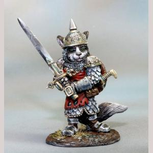 Ragdoll Cat Warrior with Two Handed Sword