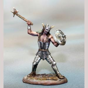 Male Warrior with Axe and Shield
